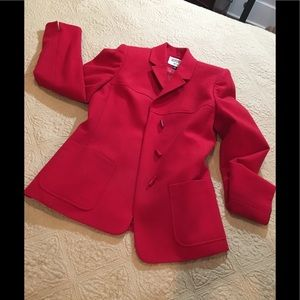 Trending Wool Red jacket blazer with toggles